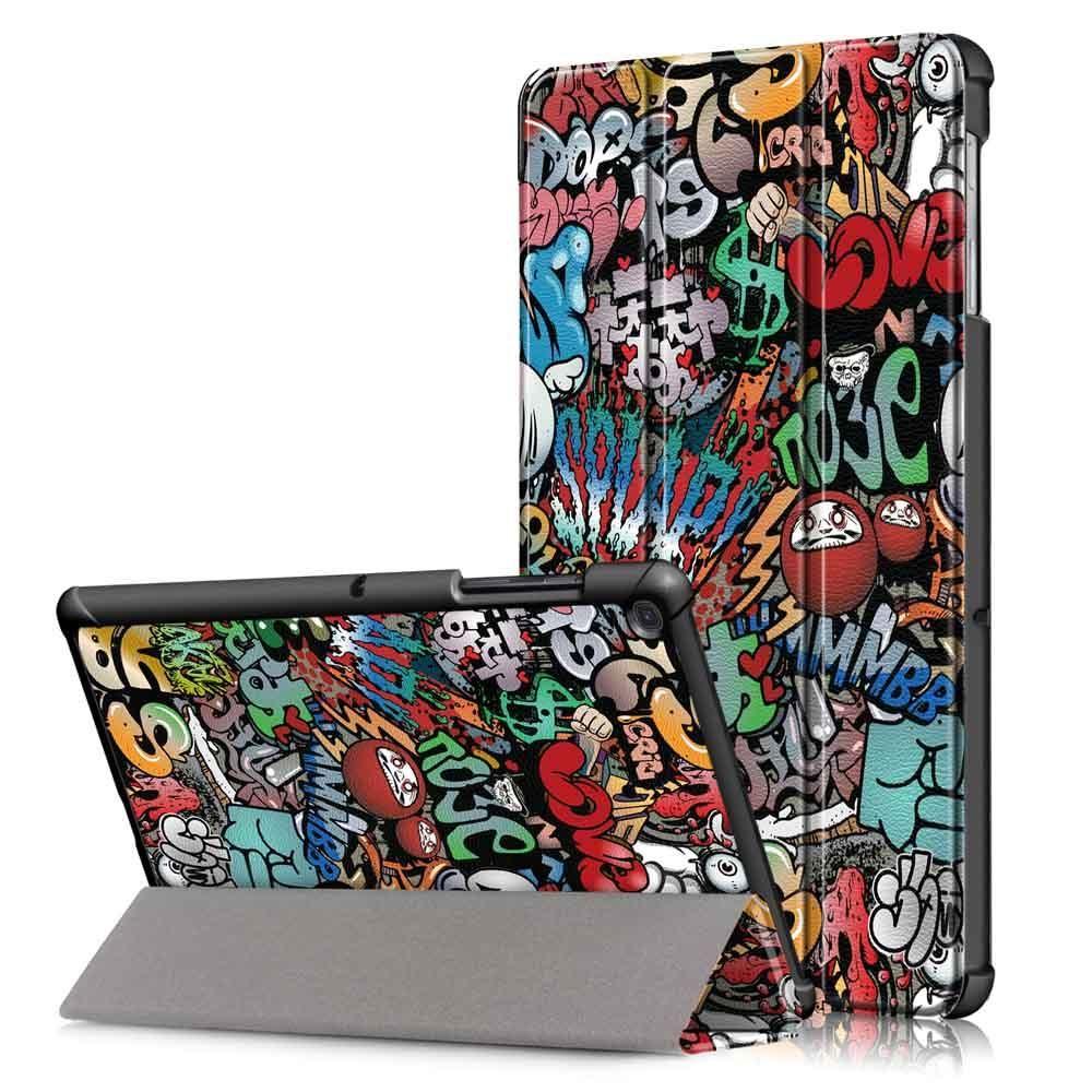 Tri Fold Pringting Tablet Cover för Samsung Galaxy Tab S5E SM T720 SM T725 Tablet Doodle