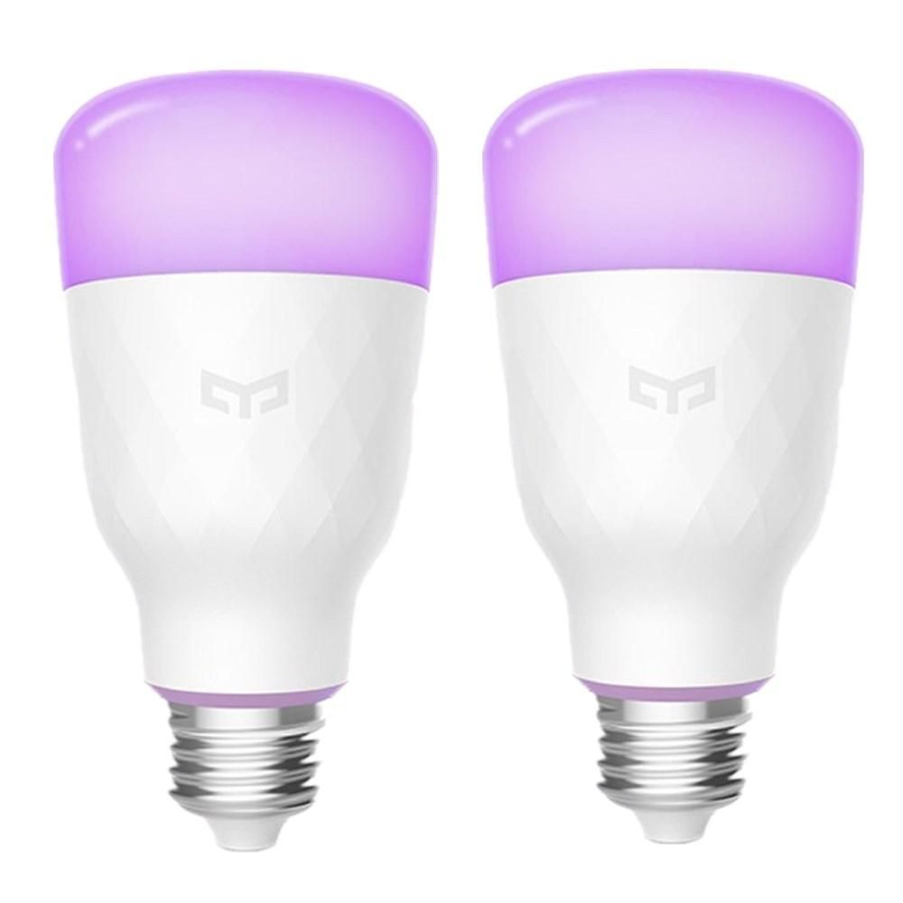 2PCS Yeelight YLDP06YL E27 10W RGBW Smart LED Bulb Work With Amazon Alexa AC100 240V(Xiaomi Ecosystem Product)