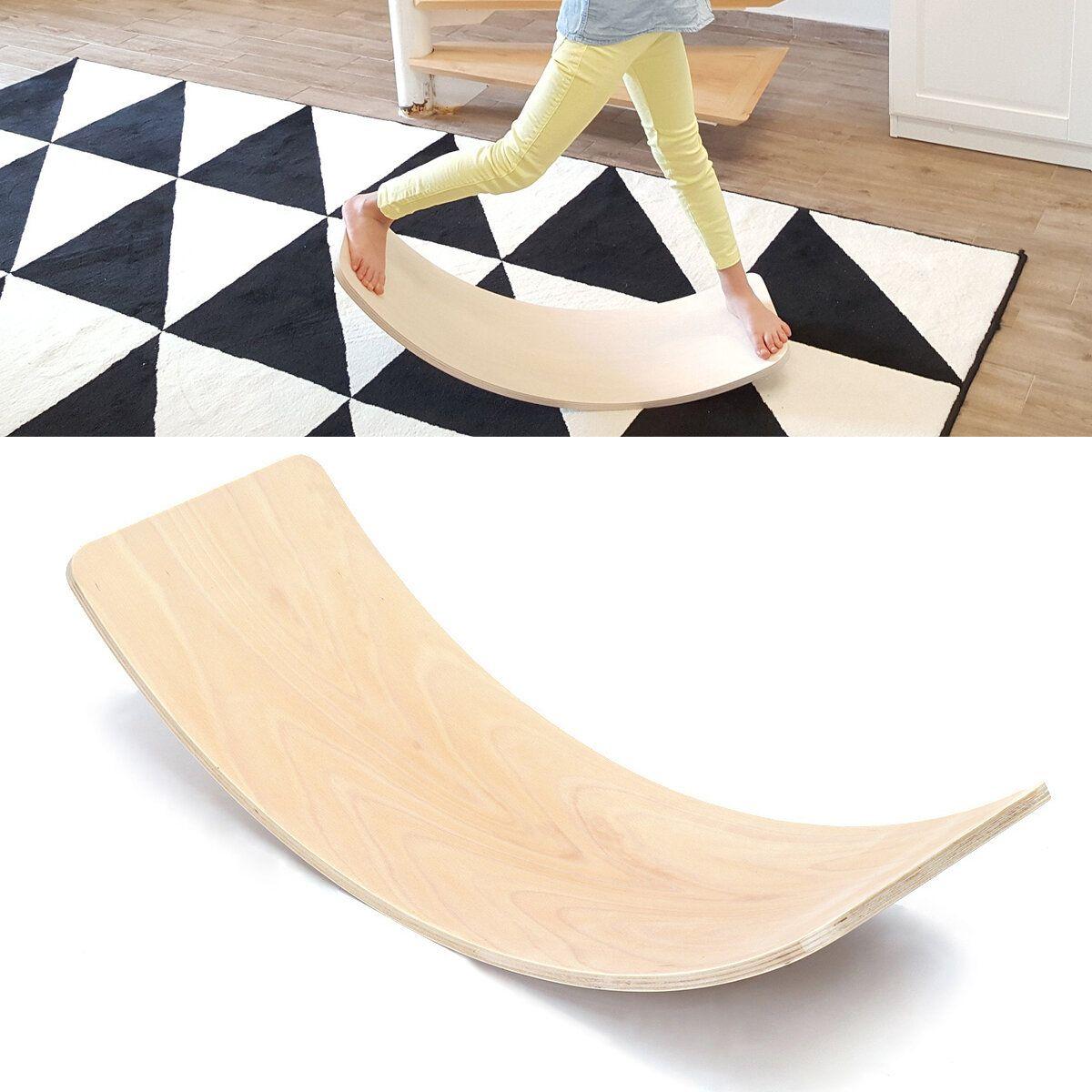 36 Inch Kids Wooden Curved Balance Boards Toddler Children Fitness Bridge Toys