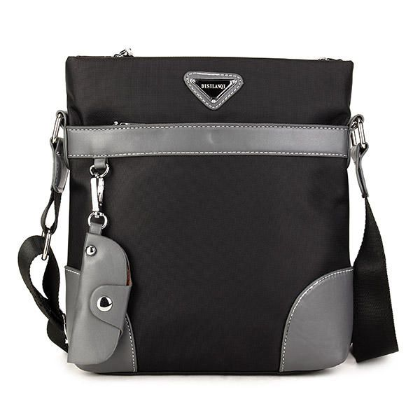 Men Oxford Leisure Crossbody Bag Business Shoulder Bag Keychain