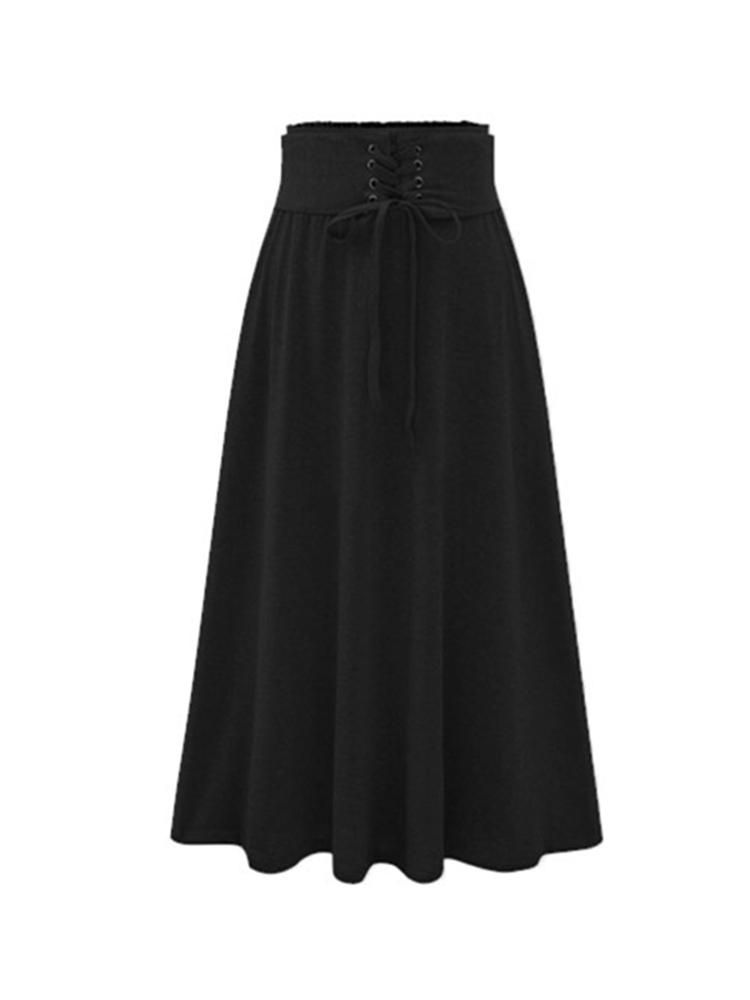 DHB US$32.29 Casual Women Solid Color Skirts