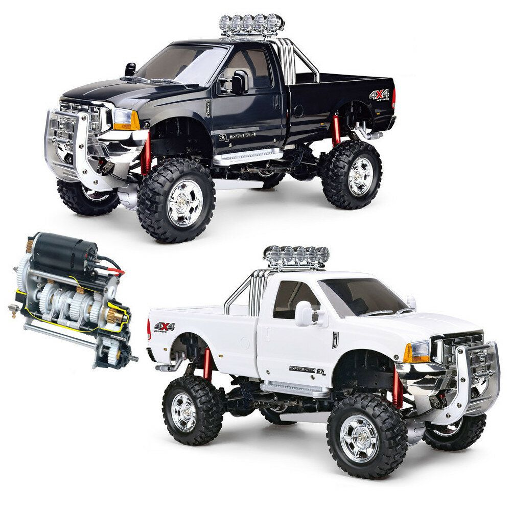 HG P410 1/10 2.4G 4WD RC Car 3 Speed Pickup Truck Rally Vehicles without Battery Charger