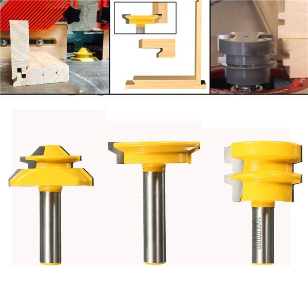3pcs 1/2 Inch Shank Router Bit Woodworking Tool