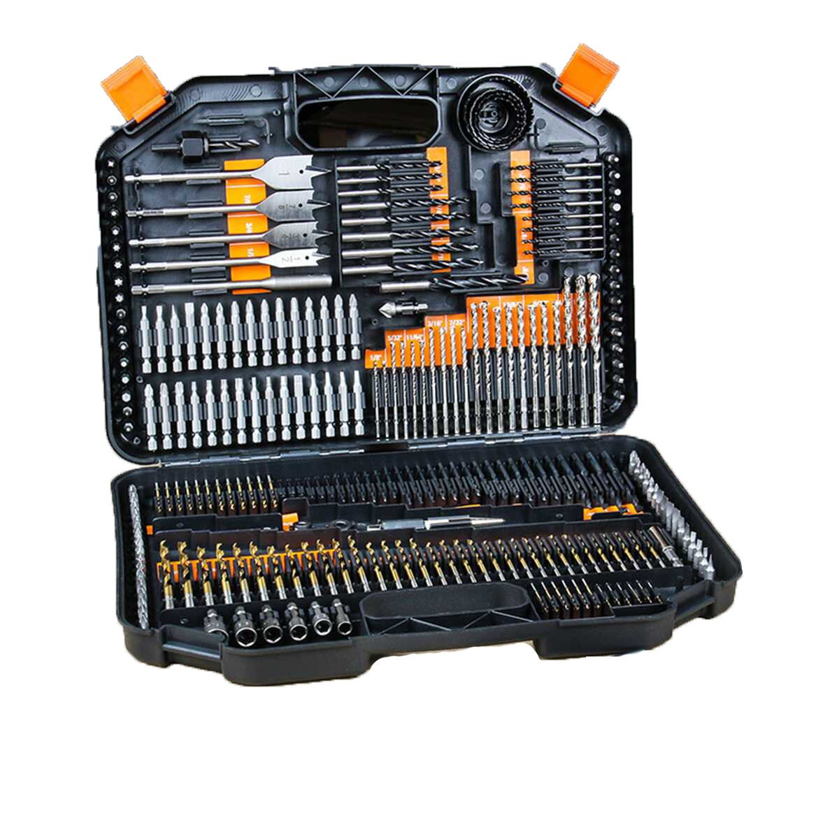 246Pcs Stainless Steel Twist Drill Bit Set High Speed Steel Manual Twist Drill Bits