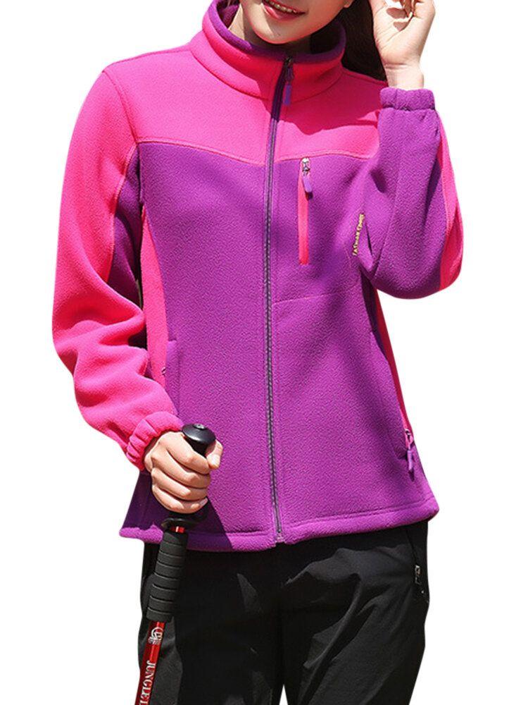 Casual Women Windproof Fleece Mountaineer Outdoor Sport Jackets