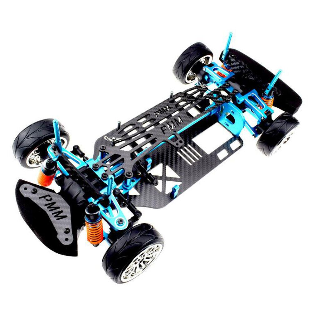 1/10 Aluminium Alloy Metal Carbon Fiber Chassis Kit Rc Car Frame Parts