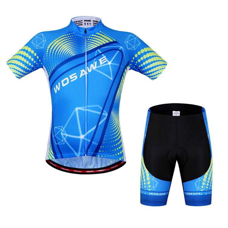 WOSAWE Unisex Cycling Shorts Suits Short Sleeve Set Bicycle Jersey Sports Shorts Summer Reflective