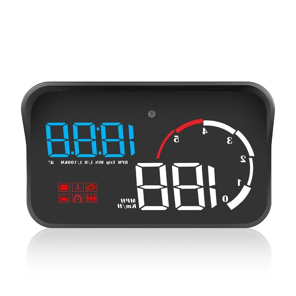 M10 Car OBD2 HUD Head Up Display Digital Speedometer Windshield Projector Reader Engine RPM Faulty Code Water Temperature