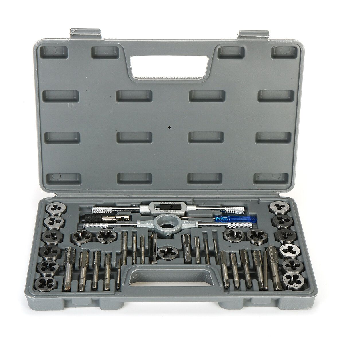 40Pcs M3 M12 Screw Nut Tap Die Set with Wrenches Thread Gauge Hand Tools