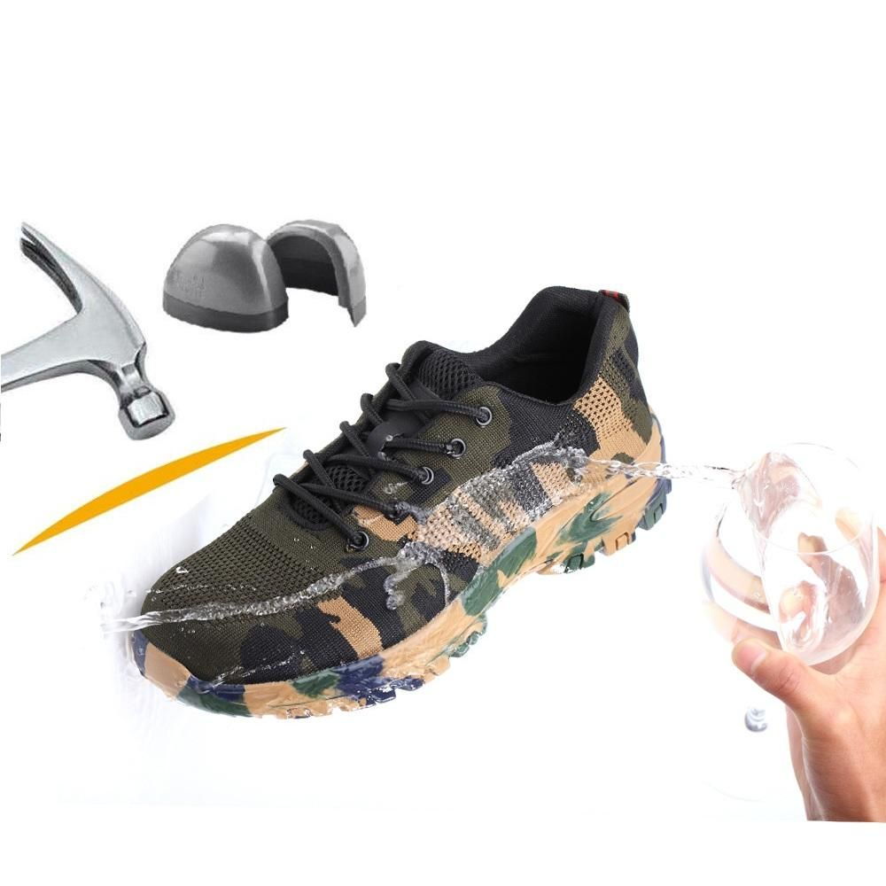TENGOO Safety Shoes Labor Insurance Shoes Steel Toe Waterproof Anti Smashing Non Slip Outdoor Hiking Work Shoes