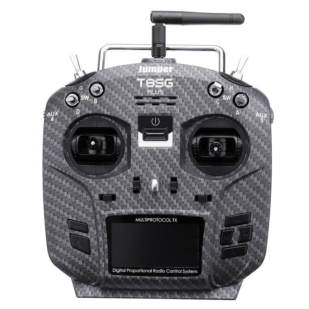 Jumper T8SG V2.0 Plus Carbon Special Edition Hall Gimbal Multi protocol Advanced Transmitter for Flysky Frsky