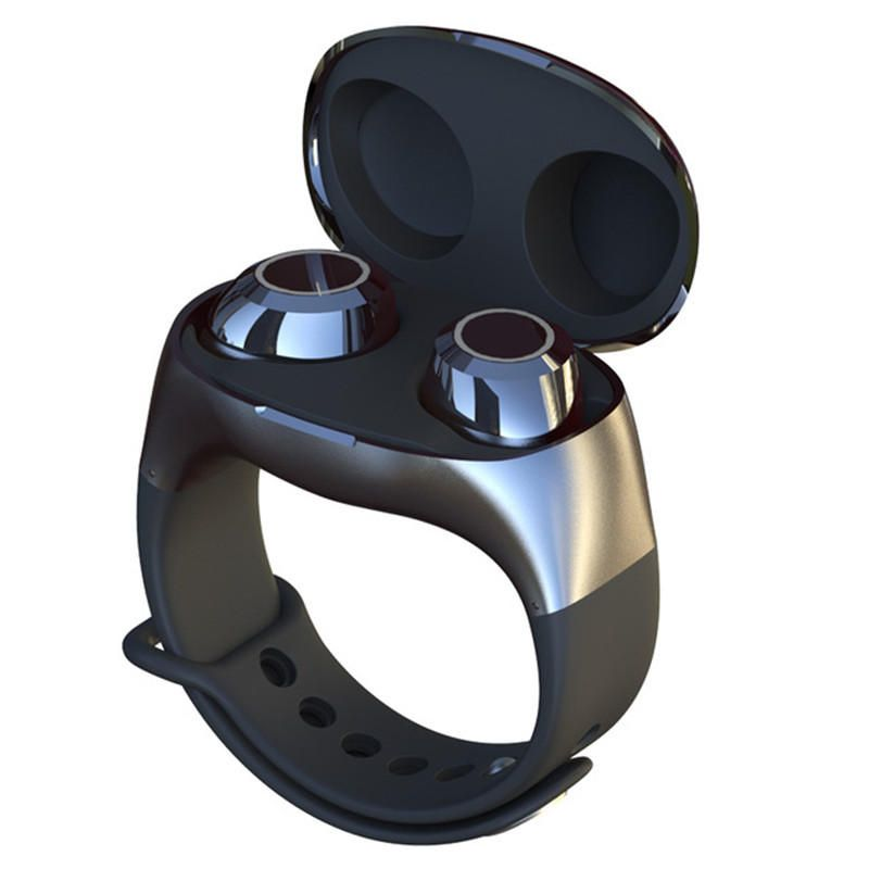 HM50 Wrist TWS Graphene Earphone bluetooth 5.0 Wireless Stereo Headset Portable Binaural Headphones