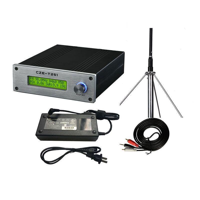 CZERF CZE T251 25W Wireless Long Range FM Transmitter Mini Audio Amplifier 87 108MHz Adjustable