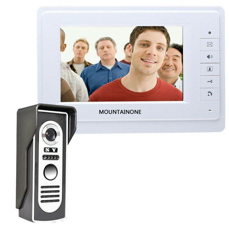 ENNIO SY819M11 7 inch TFT Video Door Phone Doorbell Intercom Kit with 1 Camera 1 Monitor Night Vision