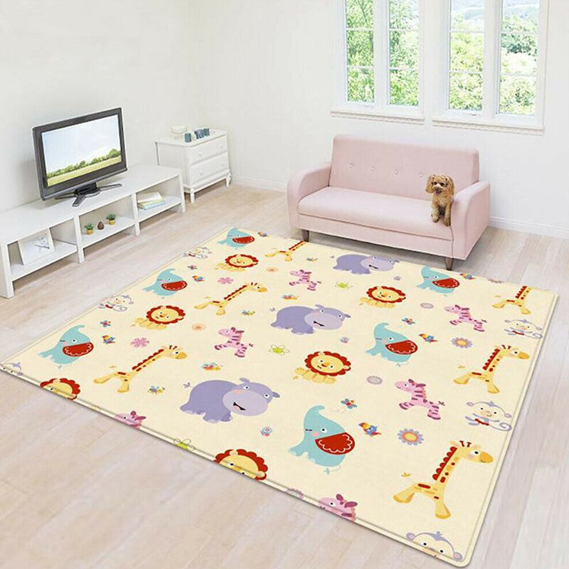 Cartoon Children Double sided Folding Crawling Mat Baby Indoor Outdoor Play Mats