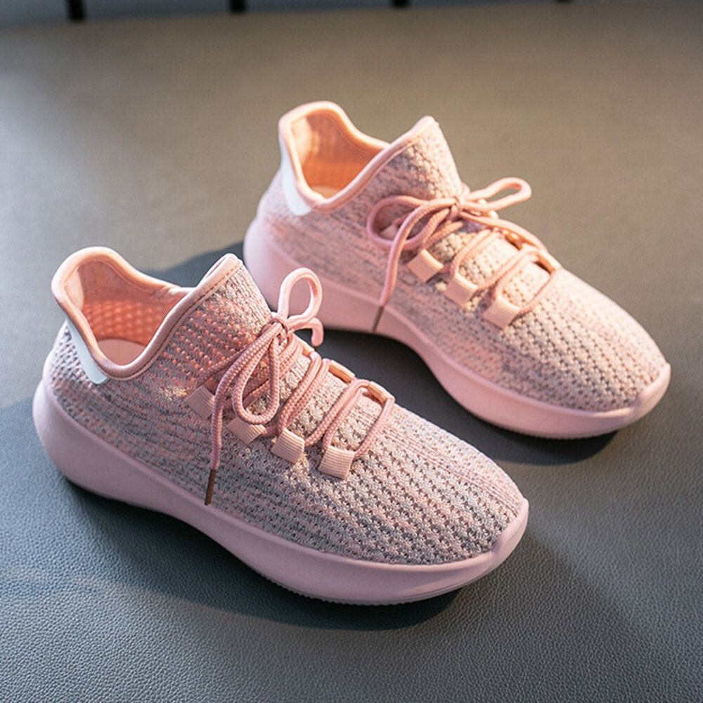 Women Casual Breathable Mesh Lace Up Non slip Sneakers
