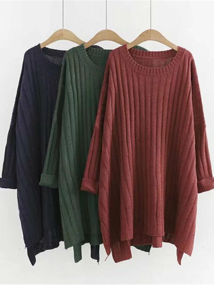 Plus Size Casual Women Loose Wool Sweaters