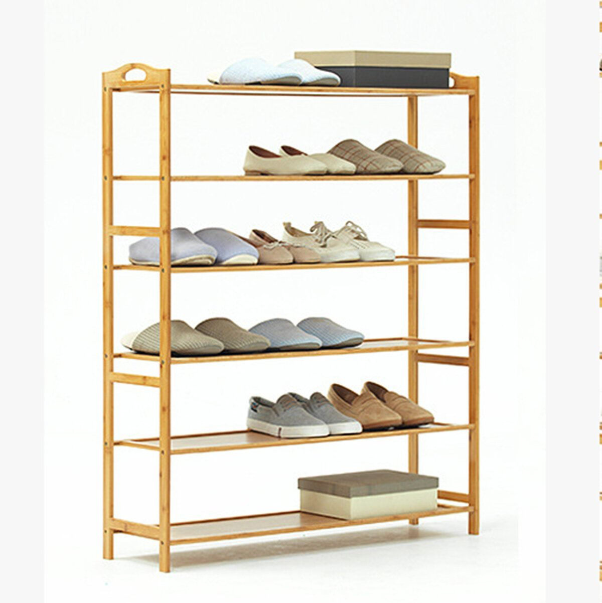 3/4/5/6 Tier Shoe Racks Wood Bamboo Shelf Entryway Storage Office Home