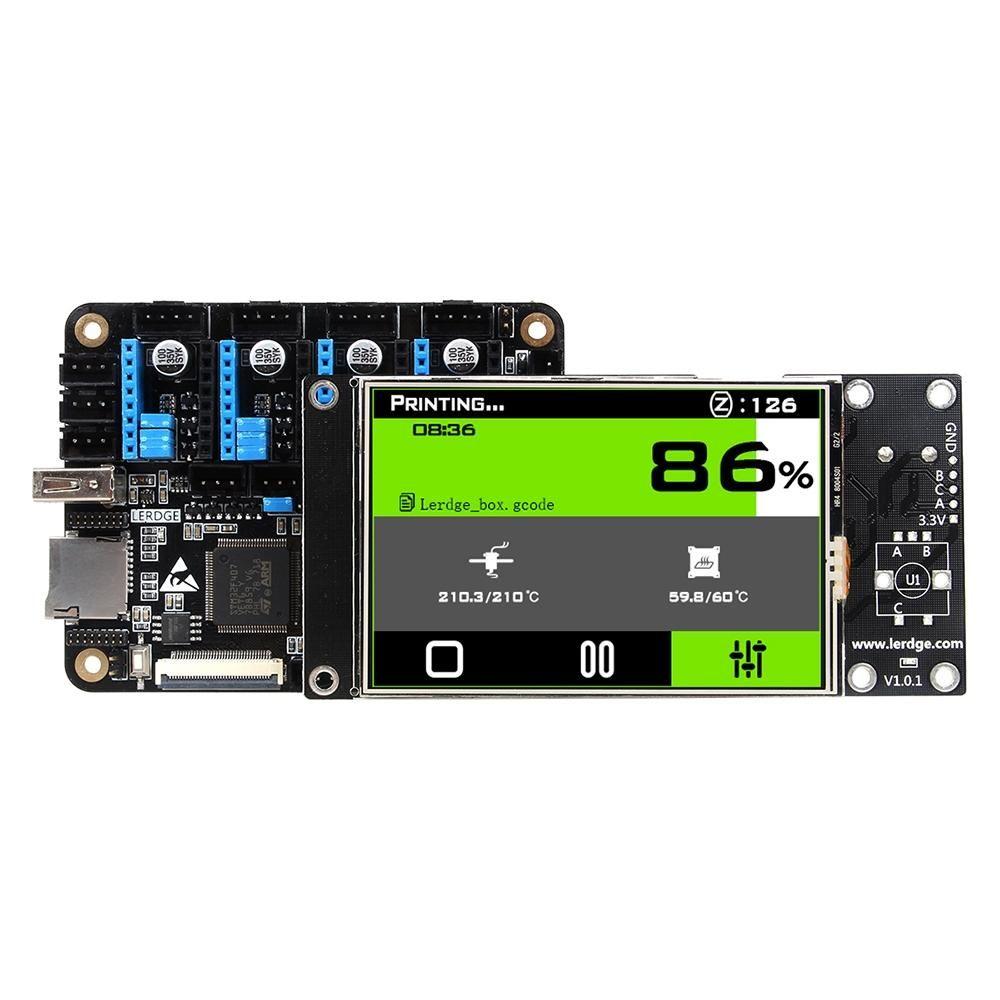 Lerdge® X Integrated Controller Board Mainboard With 32 bit Coretx M4 Core Control Unit + 3.5inch LCD Touch Screen For Reprap 3D Printer