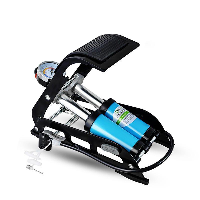 ROCKBROS Cycling Bike High Pressure Tire Air Inflatable Pump Foot Pump with Pressure Gauge For Car