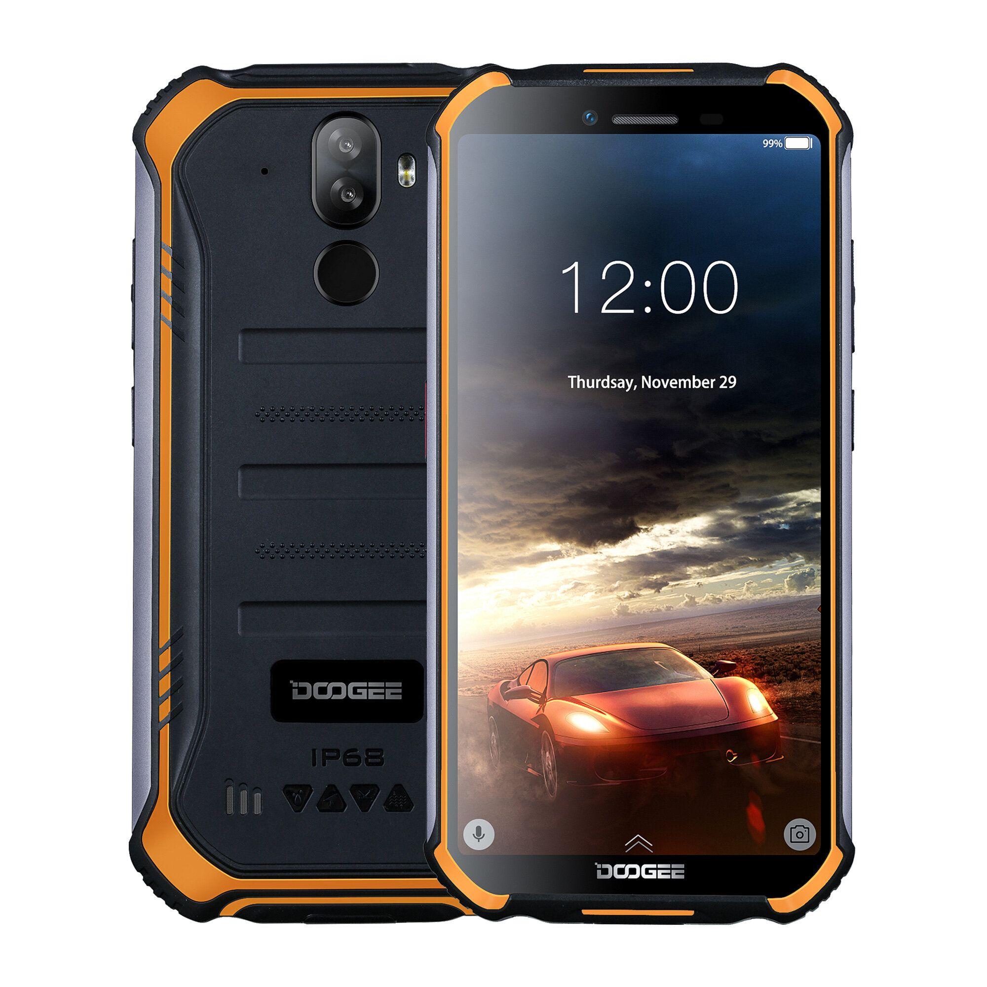 DOOGEE S40 5.5 inch IP68 IP69K Waterproof NFC Android 9.0 4650mAh 3GB 32GB MT6739 4G Smartphone