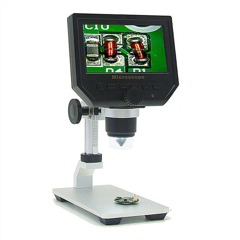 Mustool G600 Digital 1 600X 3.6MP 4.3inch HD LCD Display Microscope Continuous Magnifier with Aluminum Alloy Stand Upgrade Version
