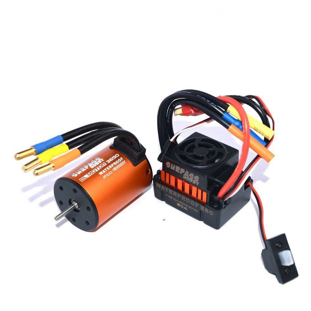 Surpass Hobby Waterproof 3650 4300KV Brushless RC Car Motor With 60A ESC Set For 1/10 RC Car