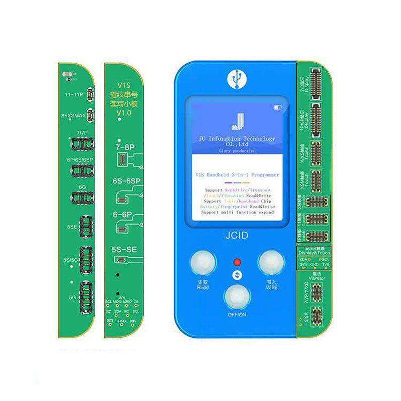 JC V1S V1 for PHONE 7 8 8P X 11 PRO MAX Photosensitive Original Color Touch Shock Battery Fingerprint Serial Number Programmer