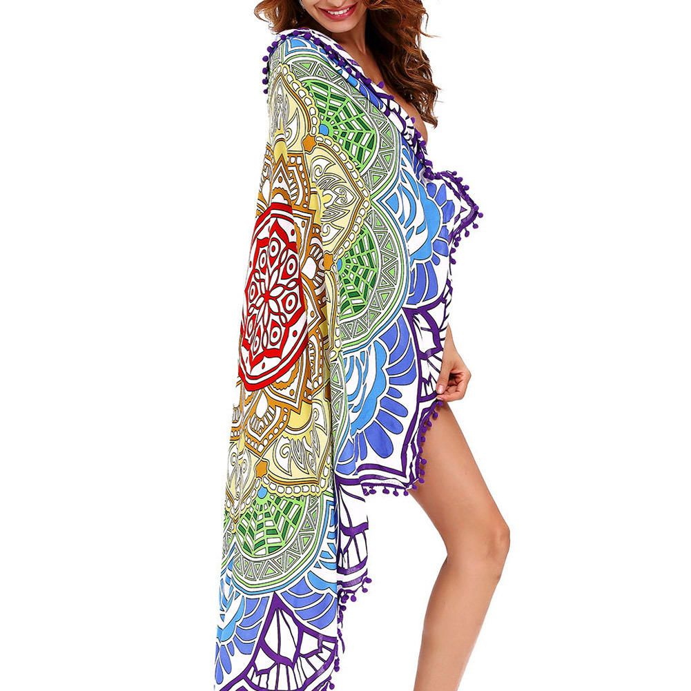 Honana WX 91 Bohemian Tapestry Totem Lotus Beach Towels Yoga Mat Camping Mattress Bikini Cover