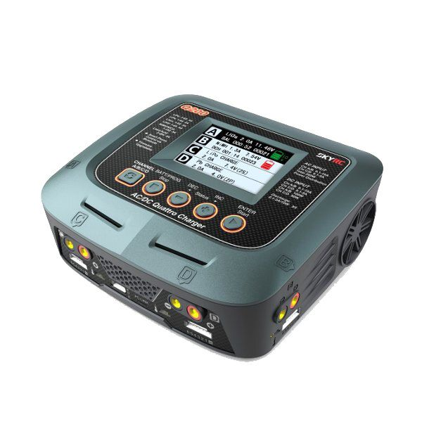 GWM US$218.56 SkyRC Q200 QUATTRO AC/DC 2X100W 2X50W Lipo Battery Balance Charger Discharger