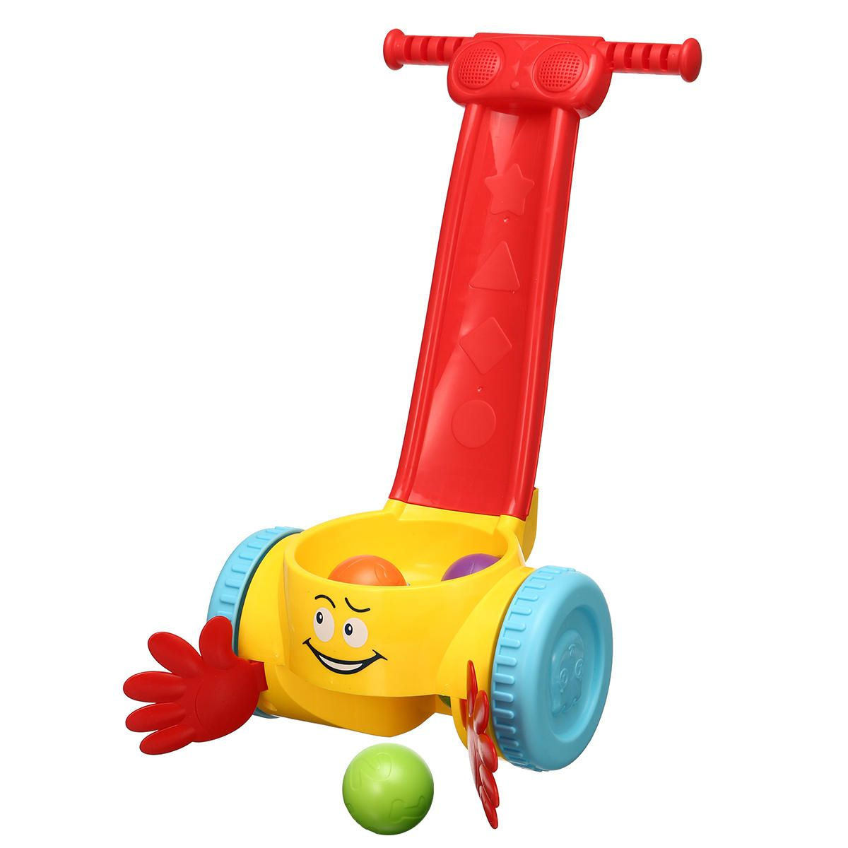 Plastic Baby Kids Walker Scoop Whirl Ball Toddler Music balanced Walking Push Toys