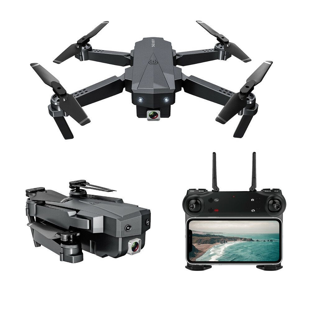 ZLRC SG107 HD Aerial Folding Drone With Switchable 4K Optical Flow Dual Cameras 50X Zoom RC Quadcopter RTF