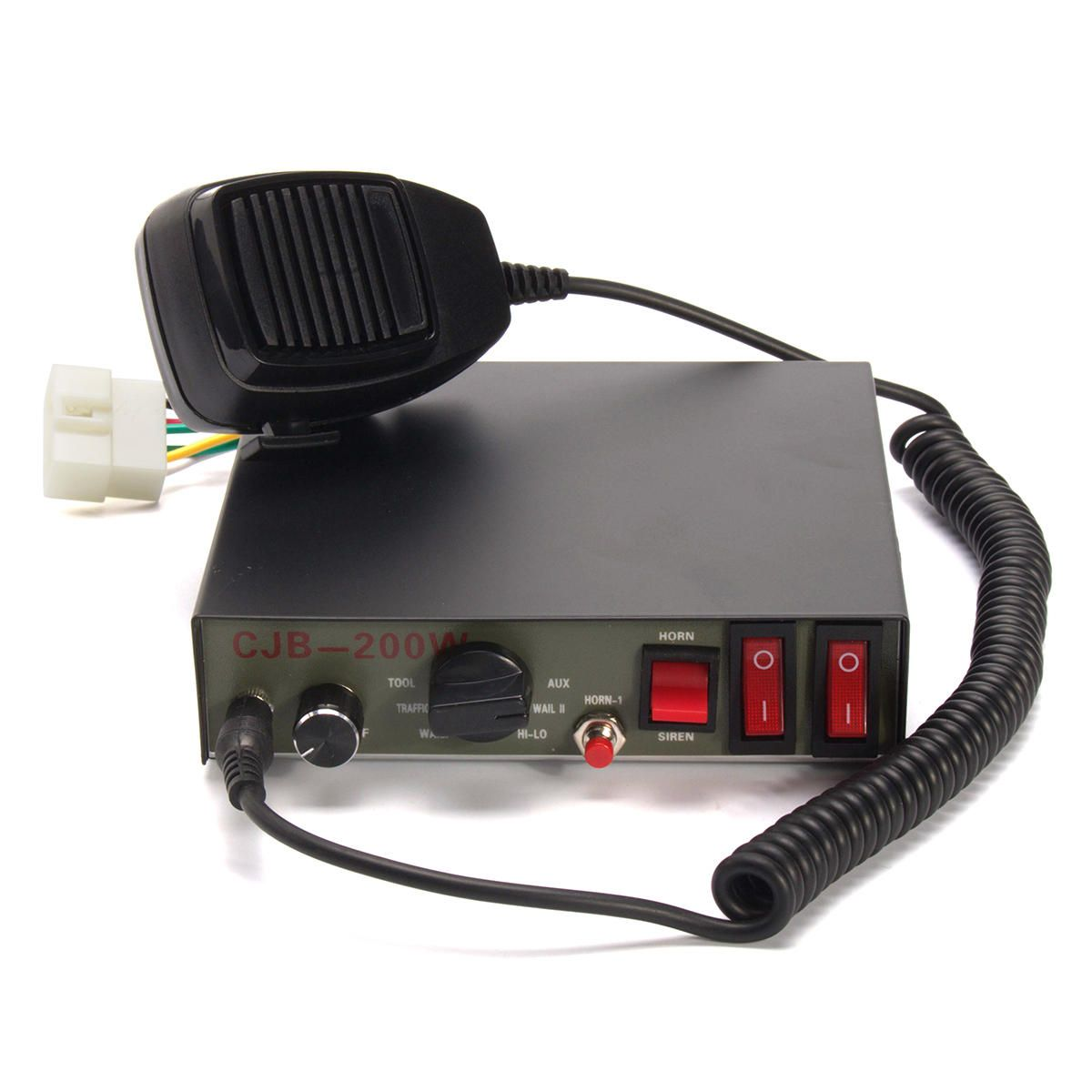200W 9 Sound Tones Car Truck Warning Alarm Police Siren Horn Speaker MIC System