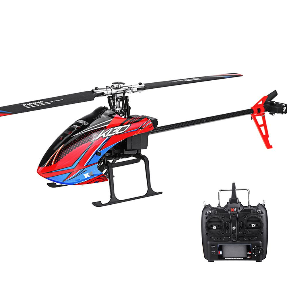 XK K130 2.4G 6CH Brushless 3D6G System Flybarless RC Helicopter RTF Compatible with FUTABA S FHSS