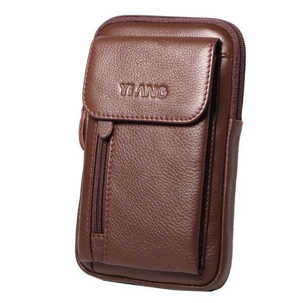 Genuine Leather 5.5 7″ Cell Phone Bag Waist Bag Crossbody Bag For Men