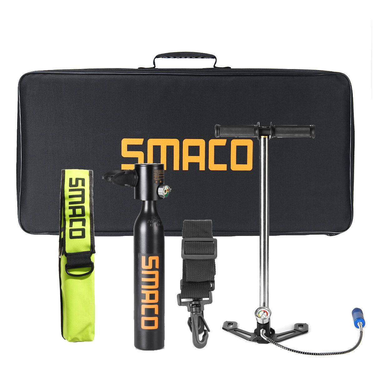 SMACO 500ML Diving Scuba Cylinder Oxygen Respirator Air Tank Pump Underwater Breath Tools