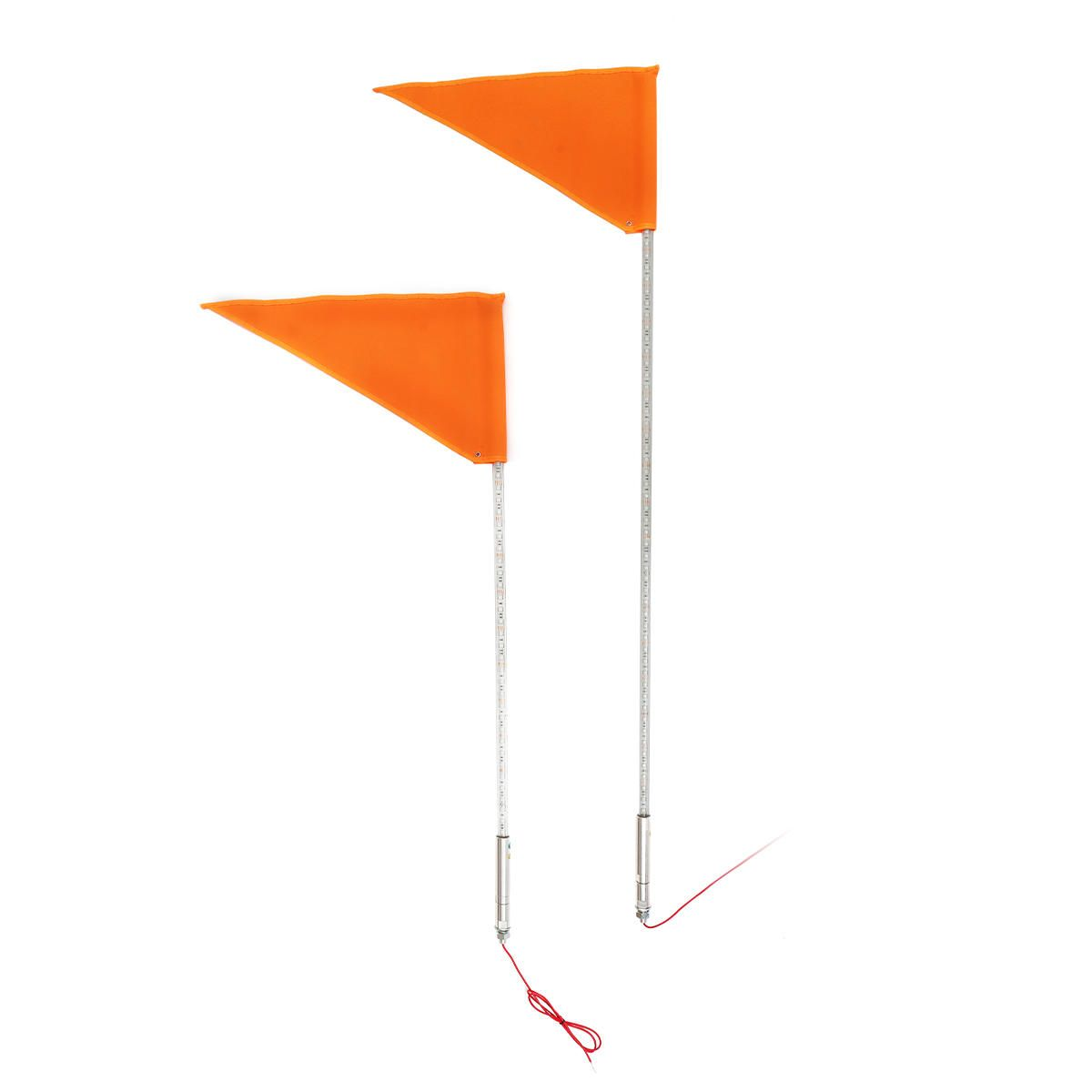 12V 5050 RGB 3ft/4ft Flagpole Lamp 110/160 LED 13 22W/16 30W Lighted Whip Light With Flag For Jeep ATV UTV Motorcycle
