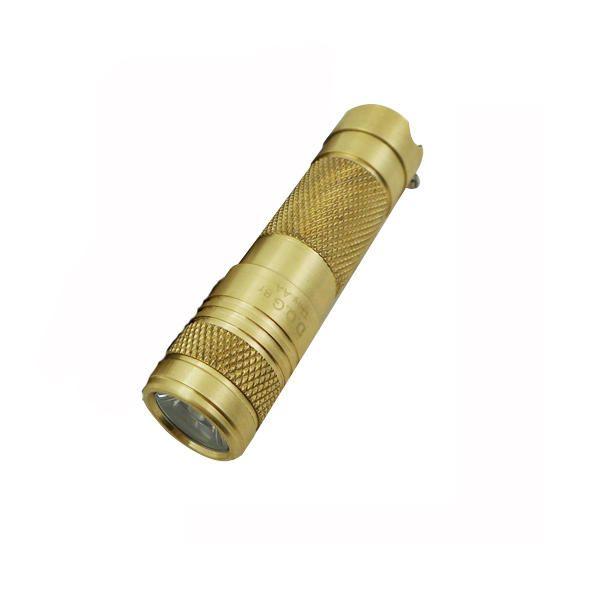DQG Tiny AA XP G2 Brass 230LM 3Modes EDC Mini LED Flashlight