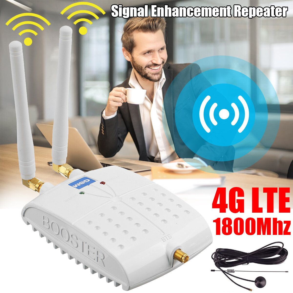 1800MHz GSM Signal Booster International LTE 4G WiFi Router Signal Amplifier Repeater for Cell Phone Wireless Wifi Signal Amplification Router