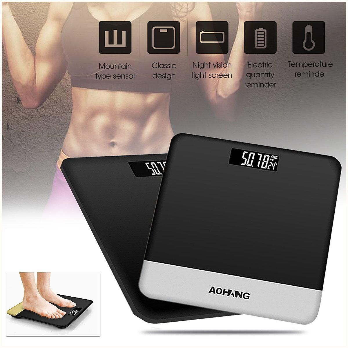 YFP US$26.99 Holmark Electronic LCD Digitial Body Weight Scale Fitness Fat Healty Beauty