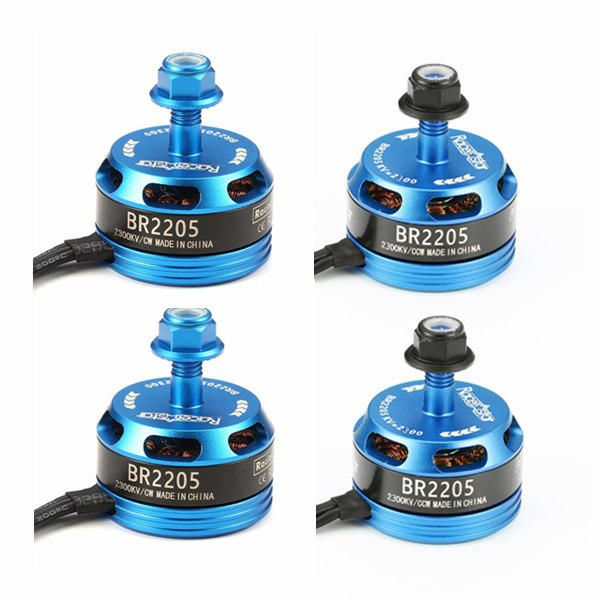 4X Racerstar Racing Edition 2205 BR2205 2300KV 2 4S Brushless Motor Light Blue For 210 X220 250 280 RC Drone