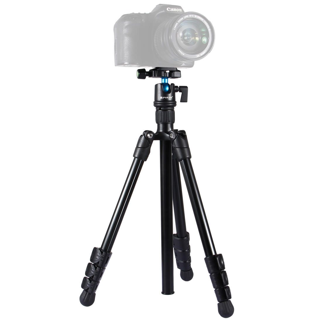PULUZ PU3009 4 Section Folding Legs Metal Tripod Mount with 360 Degree Ball Head for DSLR