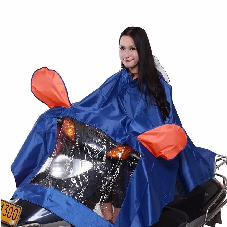 VOH US$26.19 Motorcycle Rain Coat With Mirrors Cover 4XL Scooter Electric Bike 4 Colors
