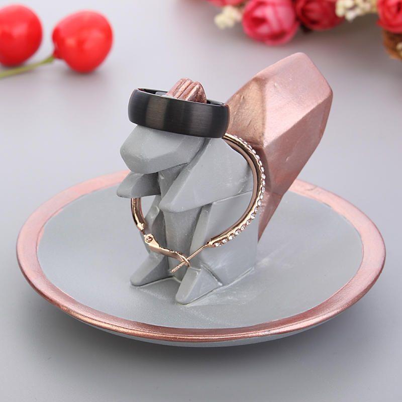 Bracelet Rings Creative Jewelry Display Stand Kawaii Cute Animal Squirrel Gift