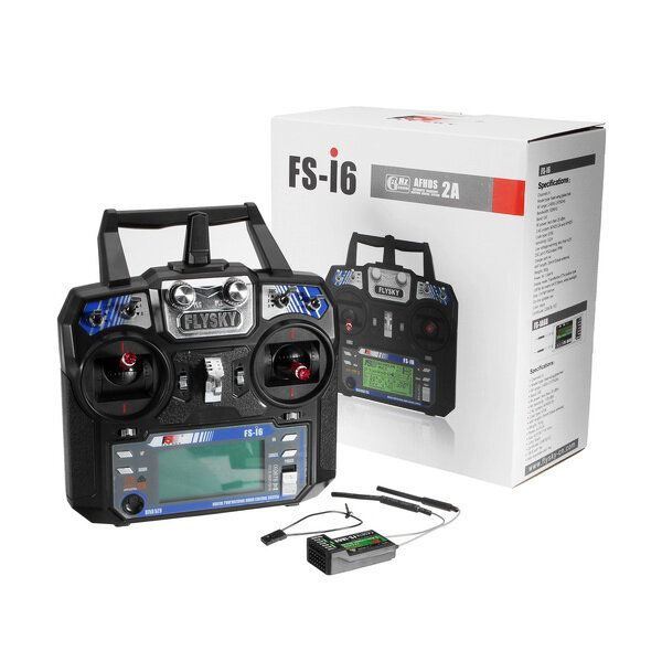 FlySky FS i6 2.4G 6CH AFHDS RC Radion Transmitter With FS iA6B Receiver for RC FPV Drone