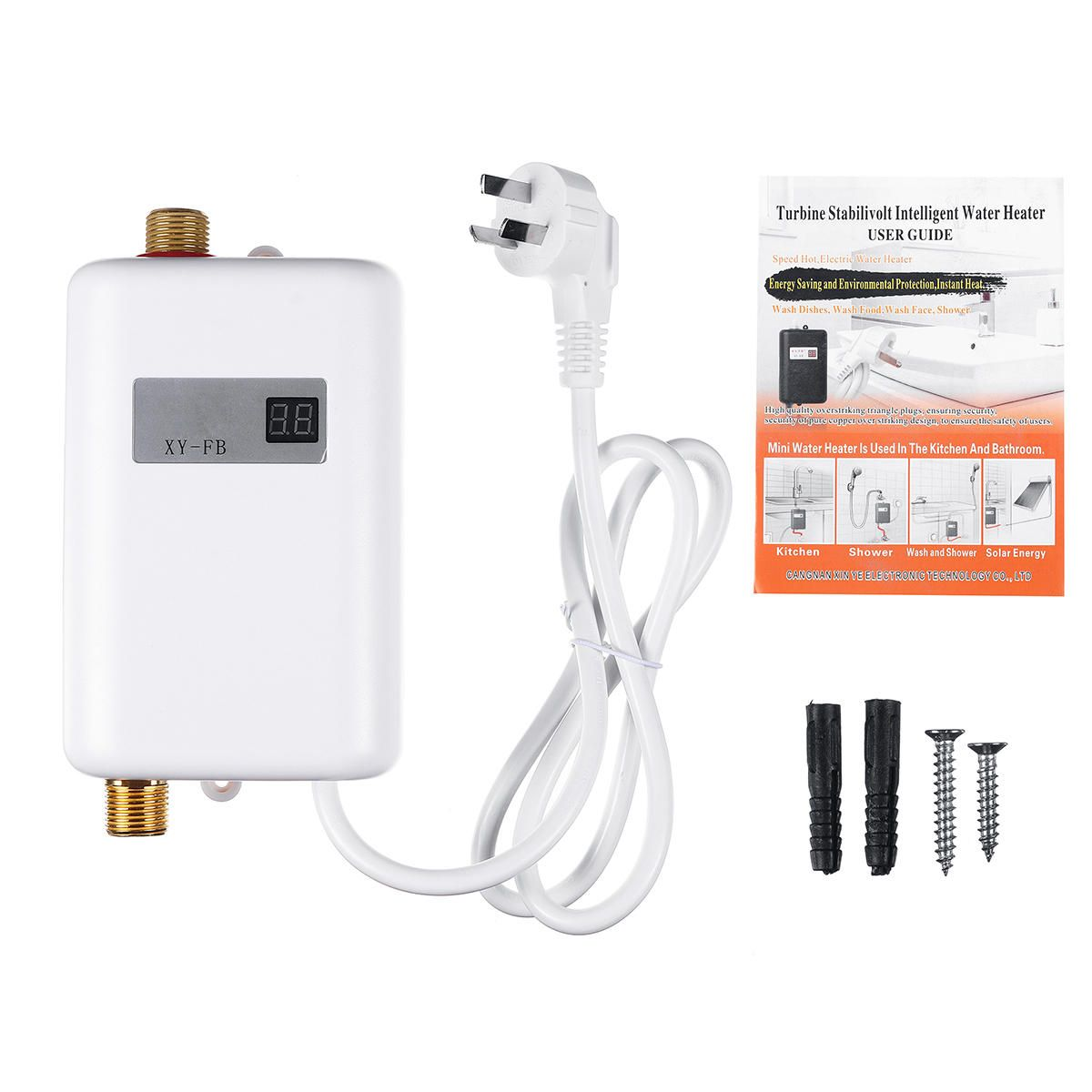 ANM US$62.29 220-240V 3.4KW Mini Electric Tankless Instant Hot Water Heater For Bathroom Kitchen Washing