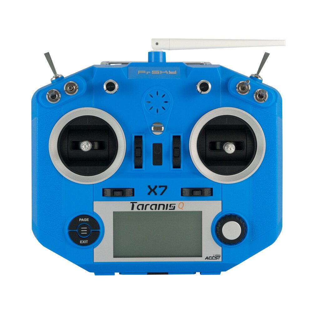 FrSky ACCST Taranis Q X7 2.4GHz 16CH Mode 2 Transmitter Blue Orange for RC FPV Racing Drone