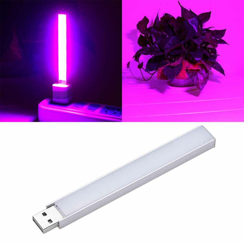 2.5W 14 LED USB Full Spectrum Red: Blue 10:4 Grow Light for Indoor Hydroponic Flower Plant DC5V