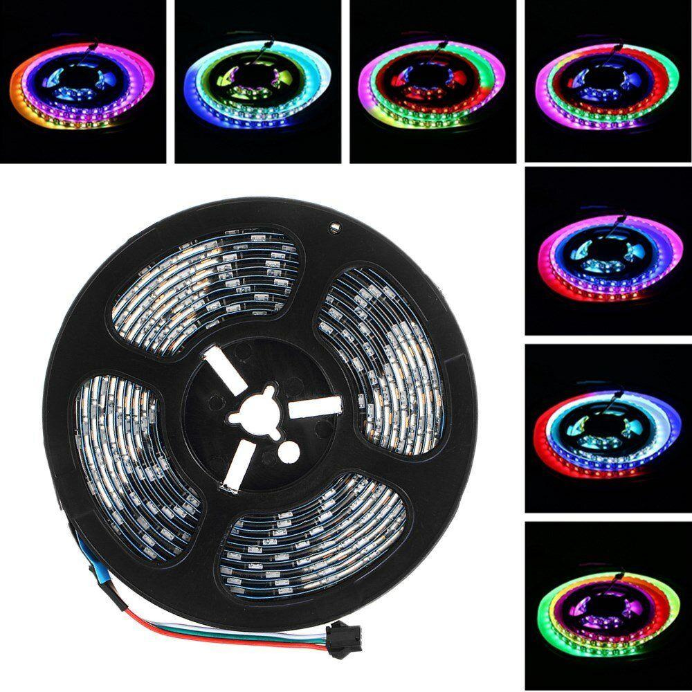 LUSTREON 1M 2M 3M 4M 5M IP65 60LEDs/M 5050 GRB GT2812 Magic Color Smart IC LED Strip Light DC5V