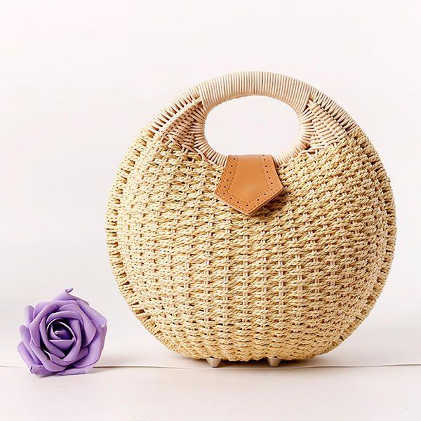 Women Nest Tote Handbag Summer Beach Bag Straw Bag Handbag